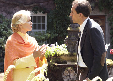 Nic Cage and Ellen Burstyn in The Wicker Man