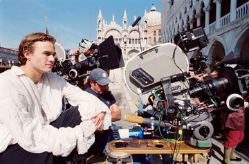 heath ledger on the set